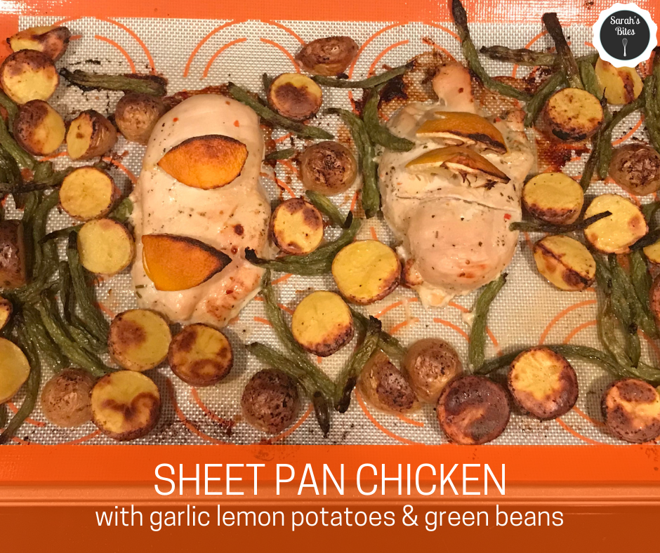Sheet Pan Chicken With potatoes and green beans
