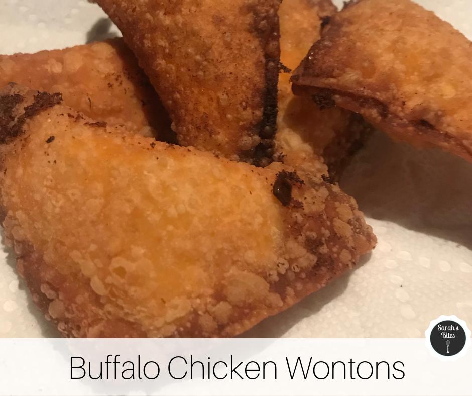 Buffalo chicken wontons